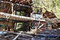 The remains of a dark period in American history, when Nazi sympathizers established a ranch mean to be self sufficient in the Pacific Palisades outsi...