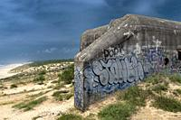 The Atlantic Wall, ww2 Germain defence Bunkers, French Coastline.
