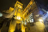 Nightscape in Sarlat la Caneda a beautiful medieval town and one of the highlights to a visit to the Dordogne Perigord France on December 6, 2018: The...