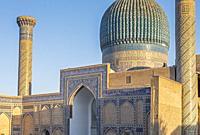 Gur-e Amir mausoleum, Samarkand, Uzbekistan.
