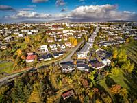 Autumn-Kopavogur a suburb of Reykjavik, Iceland.