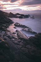 This little beach is on the border between Basque country and spain, it´s called Kobaron, and it has amazing sunsets.