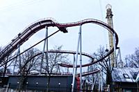 Tivoli Amusement Park in Copenhagen, Denmark.