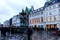 The Strøget in Copenhagen, Denmark.