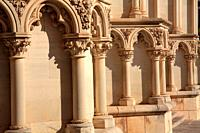 Detail of the facade of the Cathedral of Cuenca. Spain.