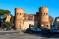 Porta San Paolo, Via Ostiense, Rome, Lazio, Italy, Europe.
