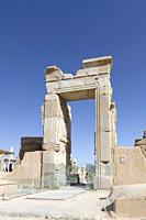 Gate of the hall of 100 columns, Persepolis, Iran.
