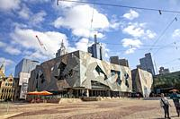 Federation Square in Melbourne city centre,Victoria.