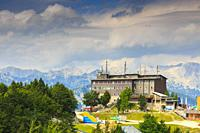 Triglav mountain range from Vogel ski area. Triglav National Park. Upper Carniola region. Slovenia, Europe.