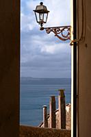 view of Lago di Bracciano from a road of Anguillara Sabazia, Lazio, Italy.