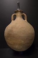 Roman amphora for olive oil, one of the main export product from Baetica, Hispania Province of Roman Empire, 1st Century AC, Archaeological Cordoba Mu...