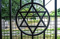 Star of David Gate, Jewish Quarter, Krakow, Poland.