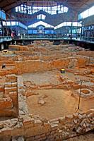 archaeological remains, El Born CCM, Center for Culture and Memory, Barcelona, Catalonia, Spain