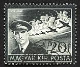 Hungarian postage stamp.