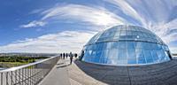 Perlan Museum (The Pearl) Reykjavik, Iceland. . Perlan exhibits Icelandic nature in unique high-tech ways.