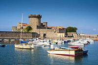 Fortress and port. Sokoa. Ciboure. Nouvelle-Aquitaine region. Pyrénées-Atlantiques department, France. Europe.