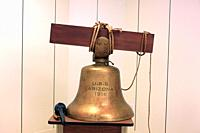 The bell from the USS Arizona recovered from Pearl Harbor now at the University of Arizona in Tucson.