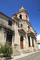 View to the Iglesia San Francisco Church at the historic center, Santiago de Cuba, Cuba, Central America