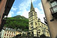 The Church of Our Lady, 19th century. Cauterets town, Hautes-Pyrénées department , Occitanie region, France.