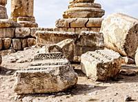 Temple of Hercules Ruins, Amman Citadel, Amman Governorate, Jordan.