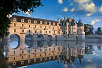 First light of morning on Chateau Chenonceau, Indre-et-Loire, Centre, France.