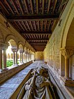 Sepulcher of Santo Domingo in the Cloister. Monastery of Santo Domingo de Silos. Spain.