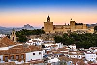 Old town and citadel castle. Monumental city of Antequera, Malaga province. Andalusia, Southern Spain. Europe.