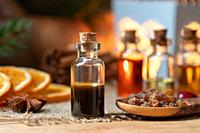Myrrh essential oil and resin.