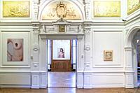 Modern photography in a historical building. Museum Jan Cunen, Oss, The Netherlands, `europe.
