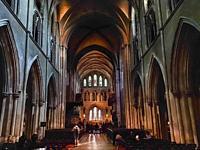 Inside Saint Patrickâ. . s Cathedral, Dublin, Ireland, Europe.
