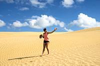 Te Paki sand dunes, Northland, New Zealand.