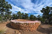 The Sun Temple, Mesa Verde National Park, Unesco World Heritage Site, Colorado, Usa, America.