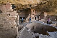 Balcony House, Mesa Verde National Park, Unesco World Heritage Site, Colorado, Usa, America.