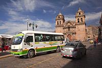 View to the San Pedro Church-Templo De San Pedro at the historic center, Cusco, Peru, South America