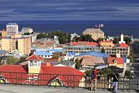 Chile, Magallanes, Punta Arenas, skyline, Strait of Magellan,.