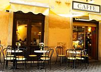 outdoor cafe, Rome, Italy.