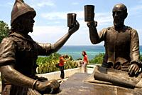 Monument called Sanduguan or blood ritual where a toast with blood is staged between the Spanish conquistador Miguel López de Legazpi and the Sikatuna...