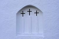Traditional and unique church in Ibiza.