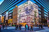 Japan, Tokyo City, Ginza District, Chuo Avenue.