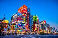 Japan, Tokyo City, Shinjuku Ward, Kabukicho Area, Yasukuni Dori Avenue.