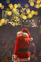 Santa Claus performing at Christmas Celebrations, Reykjavik, Iceland.