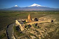 Armenie, region d'Ararat, monastère de Khor Virap et le mont Ararat / Armenia, Ararat region, Khor Virap monastery and Ararat mountain.