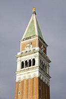 Venice, Veneto, Italy: Campanile at St Marks square.
