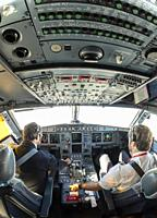 Interior of Airbus A321 cockpit