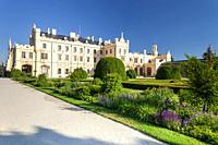 Lednice Palace with garden, Czech Republic.