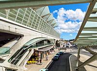Oriente Train Station, Lisbon, Portugal.