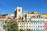 Sé Cathedral, Alfama district, Lisbon, Portugal.