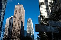 Tokyo, Japan, Asia - Skyscrapers in the Shinjuku ward of the Japanese capital city.