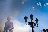 Mascletà. Fallas festival. València. Spain. 2019.