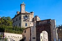 View of Bolsena town, near Bolsena lake, in Lazio, Italy.